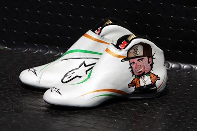 гоночная обувь Витантонио Льюцци на Гран-при Бразилии 2010