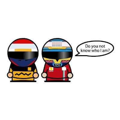 Виталий Петров и Фернандо Алонсо после финиша гонки Гран-при Абу-Даби 2010