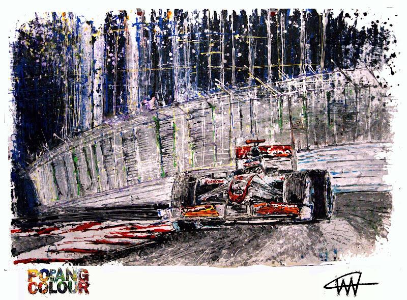 McLaren Дженсона Баттона нарисованный колесиками радиоуправляемой машинки