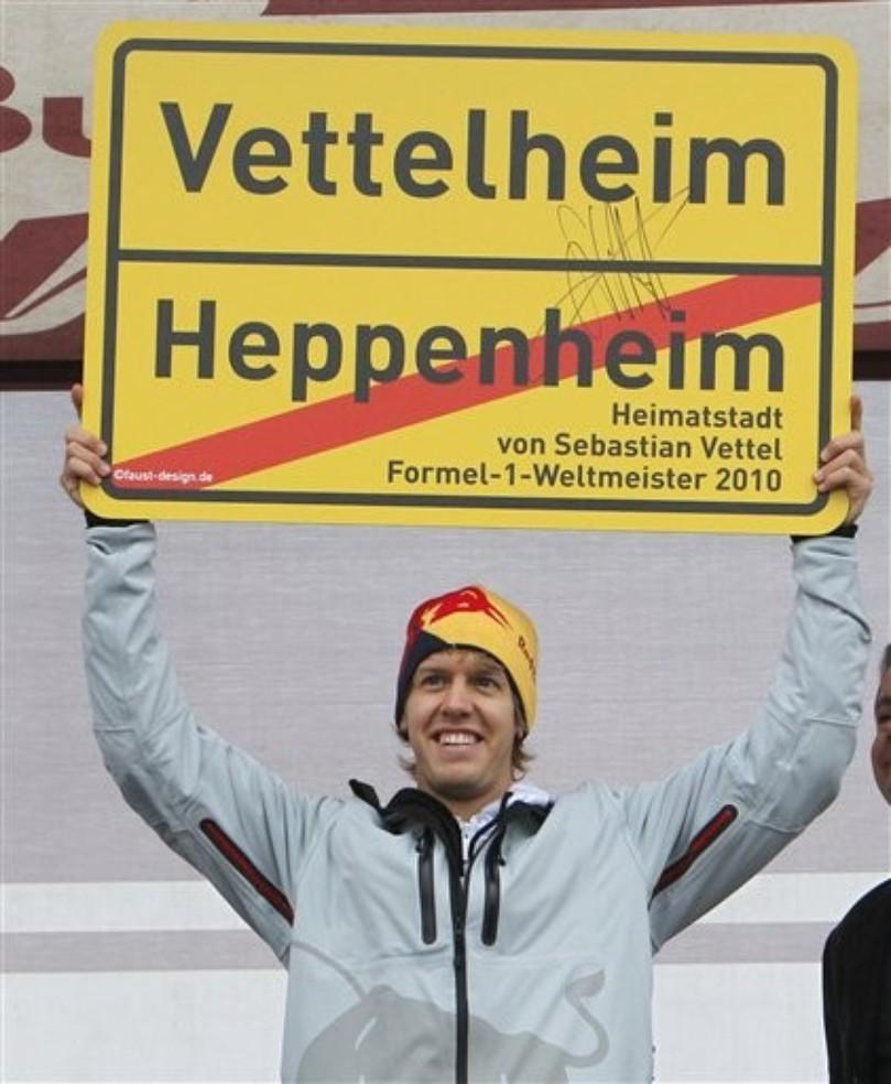 Себастьян Феттель посетил свой родной город Хеппенхайм