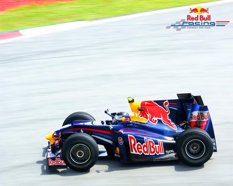 мультяшный болид Red Bull