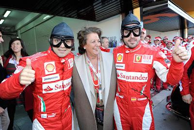 Фелипе Масса и Фернандо Алонсо в старых шлемах