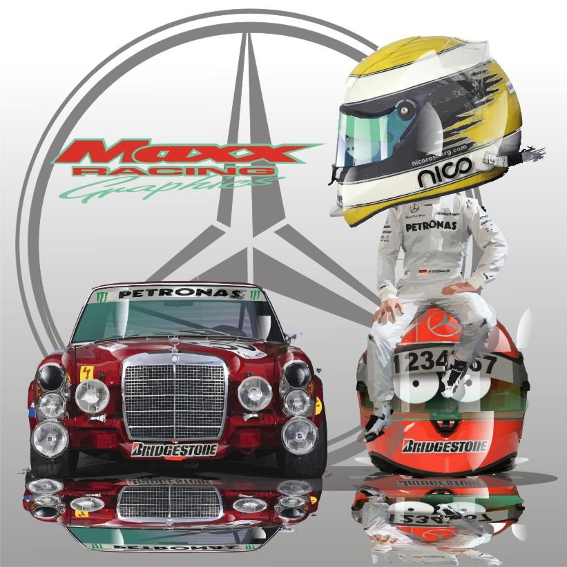 итоги сезона для Нико Росберга и Михаэля Шумахера Mercedes GP