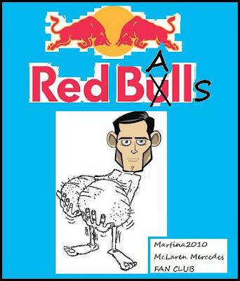 карикатура Марк Уэббер и Red Balls
