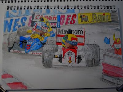Айртон Сенна и Найджел Мэнселл на Гран-при Монако 1992