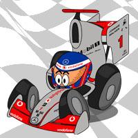 Дженсон Баттон в болиде McLaren