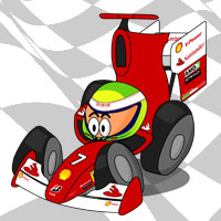 Фелипе Масса в болиде Ferrari