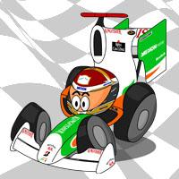 Адриан Сутиль в болиде Force India