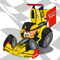 Роберт Кубица в болиде Renault