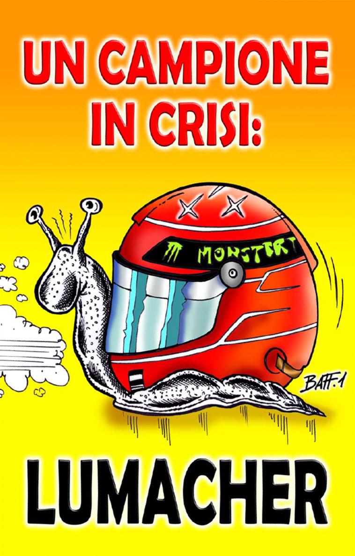 Михаэль Шумахер карикатура Baffi