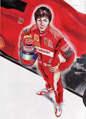 арт Камуи Кобаяши Ferrari