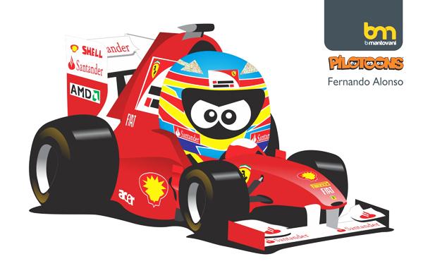 Фернандо Алонсо Ferrari pilotoons 2011