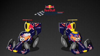 Себастьян Феттель Марк Уэббер Red Bull 2011 Los MiniDrivers