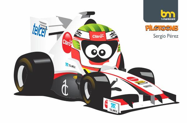 Серхио Перес Sauber 2011 pilotoons