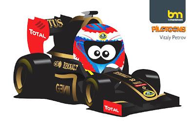 Виталий Петров Lotus Renault 2011 pilotoons
