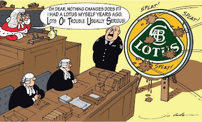 комикс Jim Bamber про Lotus