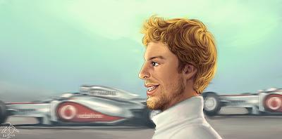 Дженсон Баттон McLaren карикатуры Yelaeve Межсезонье 2010-2011