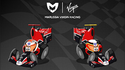 Тимо Глок и Жером Д'Амброзио Virgin 2011 Los MiniDrivers