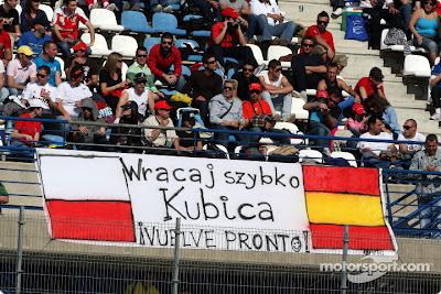 пожелание Кубице скорейшего возвращения на тестах в Хересе 2011