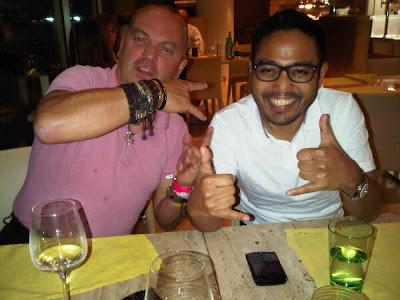 Майк Гаскойн и Риад Асмат в ресторане