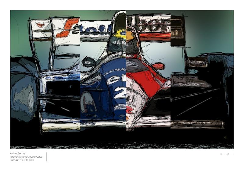 Айртон Сенна за рулем Toleman Williams McLaren Lotus by Unlap