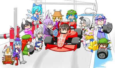 анимешный пит-стоп Ferrari