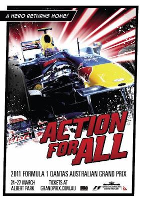 постер Марк Уэббер Red Bull Гран-при Австралии 2011 F1DesignbyMia