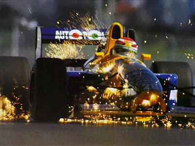 Нельсон Пике и искры из под Benetton