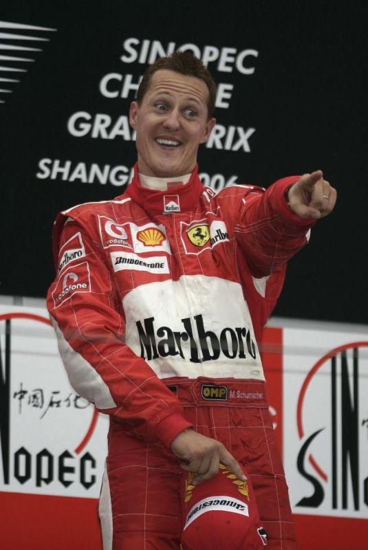 Михаэль Шумахер на подиуме Гран-при Китая 2006