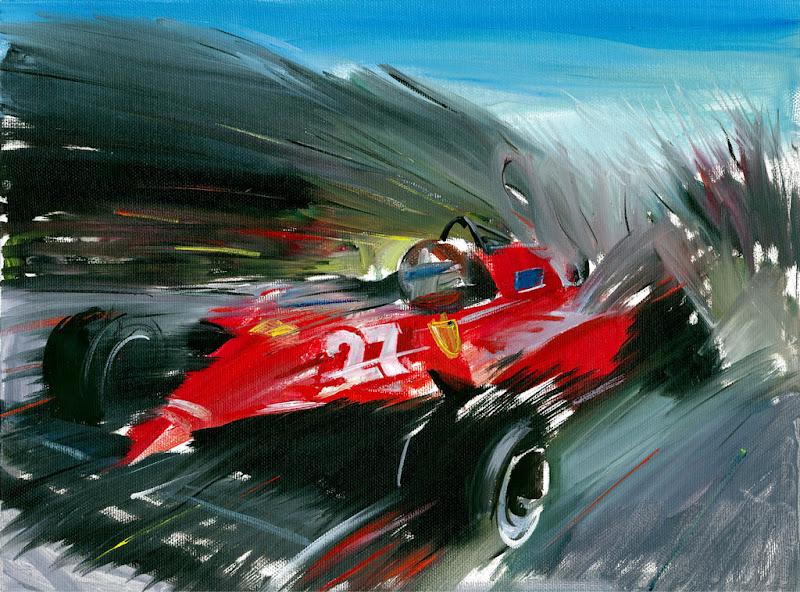 картина Жиль Вильнев Ferrari 1981 от Andrea Del Pesco
