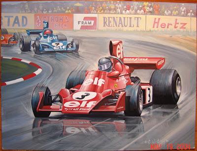 картина красный Tyrrell