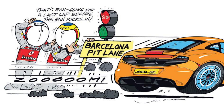 Рон Деннис Дженсон Баттон Льюис Хэмилтон McLaren комиксы Jim Bamber Межсезонье 2010-2011