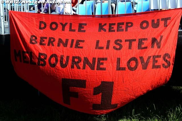 Doyle keep out Bernie listen Melbourne loves F1