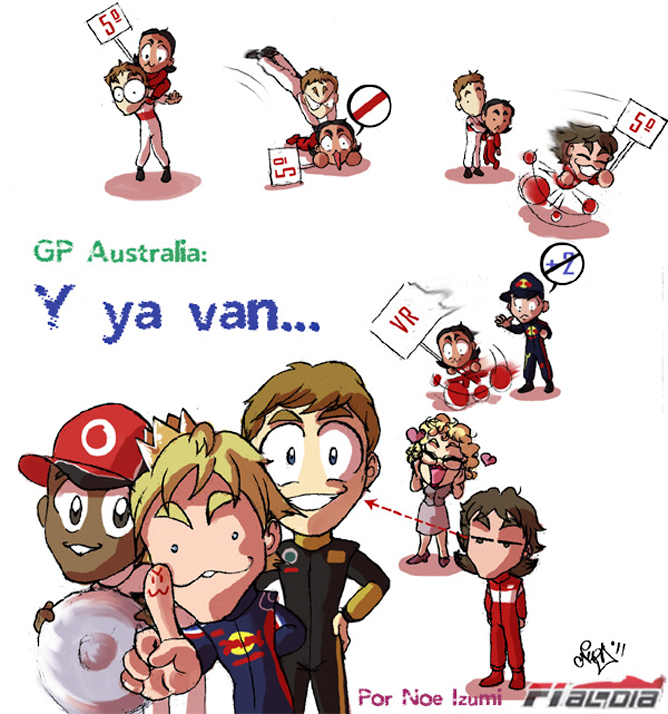анимешная картинка Noe Izumi по Гран-при Австралии 2011