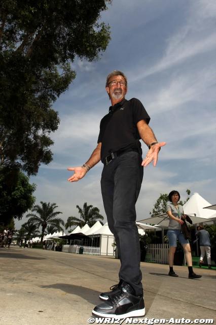Эдди Джордан в паддоке Куала-Лумпура на Гран-при Малайзии 2011