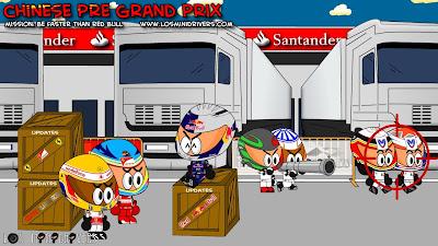 Los MiniDrivers перед квалификацией на Гран-при Китая 2011