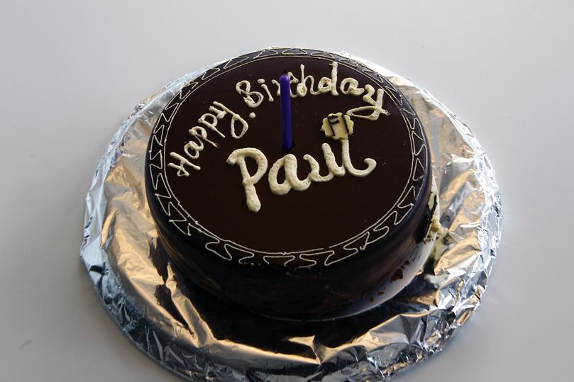 торт для Пола ди Ресты в честь 25-летия на Гран-при Китая 2011