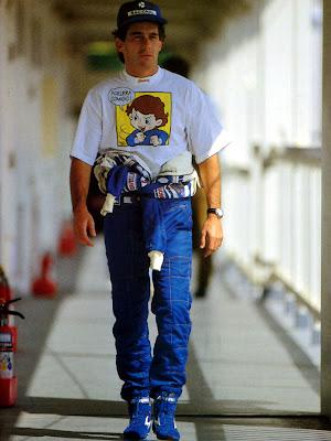 Айртон Сенна в футболке aclera comigo