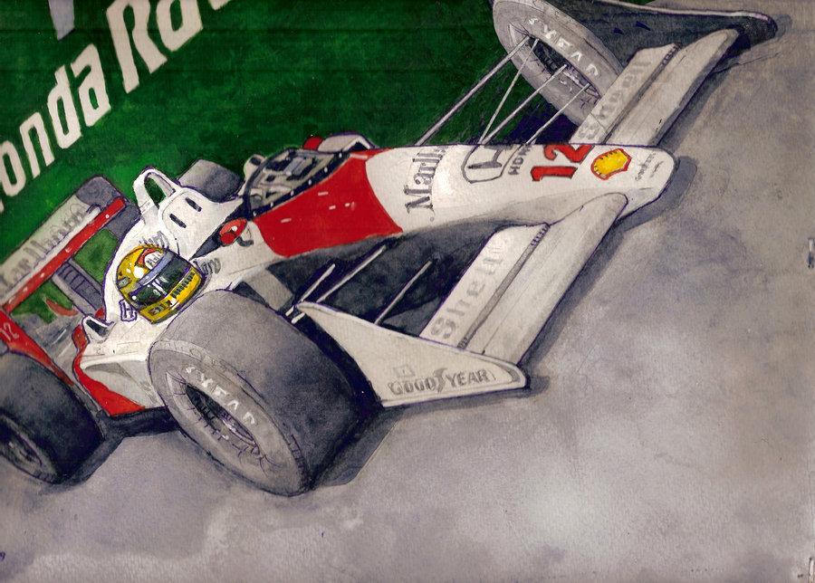McLaren с номером 12 Айртона Сеннаы