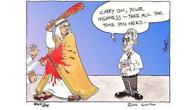 Берни Экклстоун дает шейху Бахрейна дополнительное время комикс Black Flag 2011