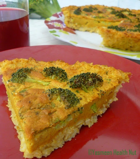 ... of broccoli and brown rice,the quiche is hearty meal in itself
