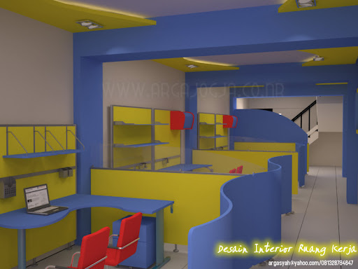 Desain Interior Resepsionis dan Ruang Kerja