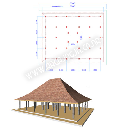 Download Gratis Soal Latihan Archicad Membuat Pendopo
