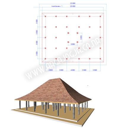 Download Gratis Soal Latihan Archicad Membuat Pendopo