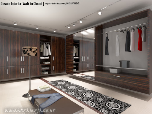 Desain Interior Walk In Closet Minimalist