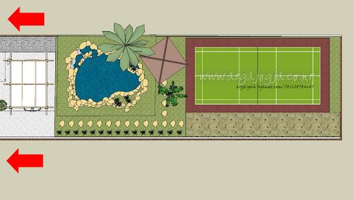 Desain Rumah Modern Minimalis Tropis Pada Lahan 11x80m