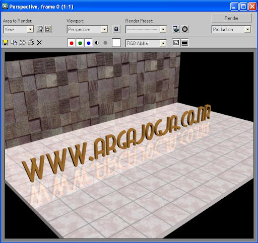 Tutorial Cara Mengkilatkan Lantai Pada Program 3Ds Max
