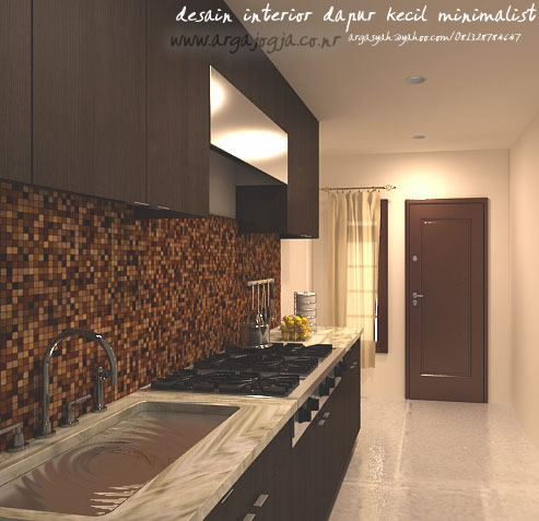 Desain Interior Dapur Kecil Minimalist Ukuran 1,9x3,8