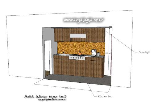 desain interior dapur kecil minimalist ukuran 1 9x3 8 m