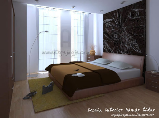  Desain Interior Kamar Tidur Utama Coklat Elegan 